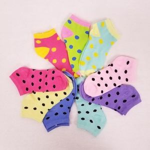 NWT Girls Ankle Socks size 6-8 Set of 3 (9 pairs)